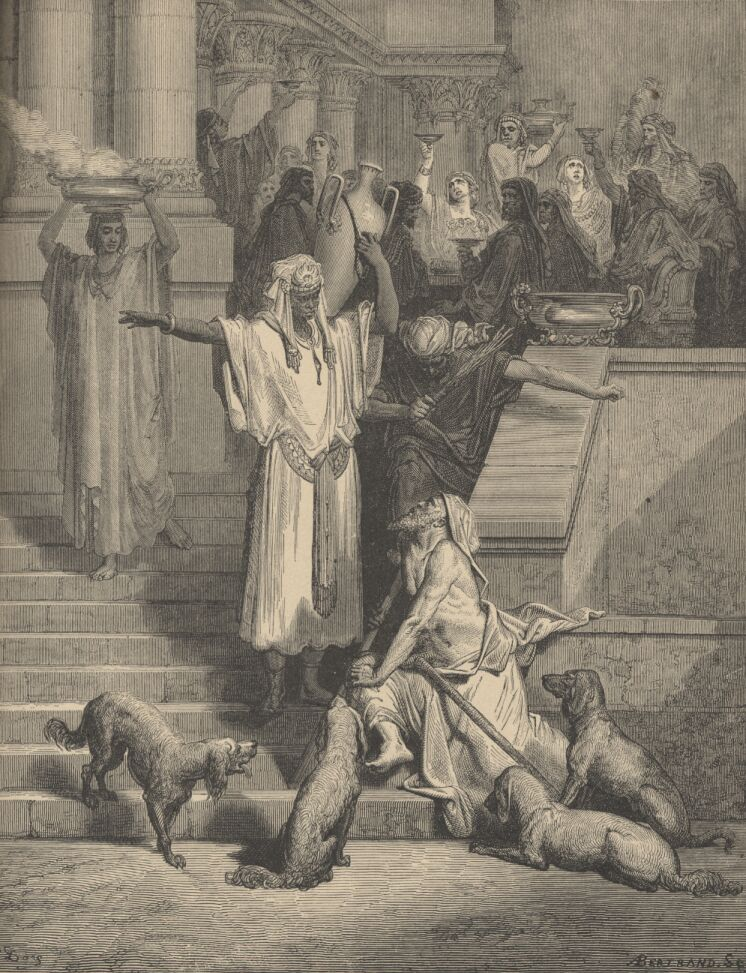 Lazarus and the Rich Man by Gustave Dore